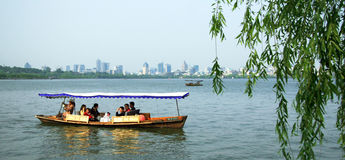 杭州西湖在杭州 免版税库存图片