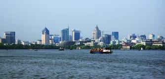 杭州西湖在杭州 免版税图库摄影