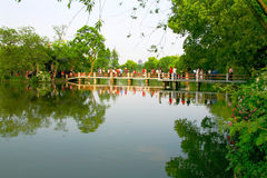 杭州西湖在杭州 免版税库存照片