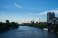 杭州运河  免版税库存图片