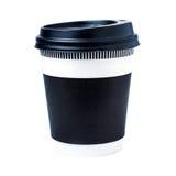 杯与盒盖的饮料 免版税图库摄影