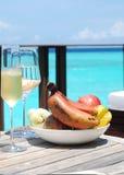 放松在海岛 免版税库存照片