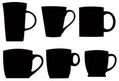 杯剪影 向量例证