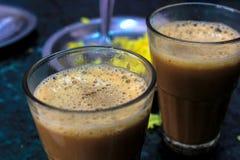 杯印地安茶 库存照片
