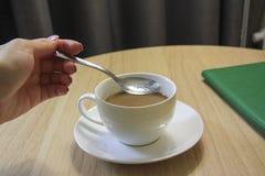 杯可口浓咖啡coffe 库存图片
