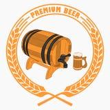 杯啤酒,纬向条花 皇族释放例证