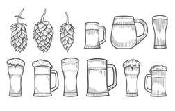 杯啤酒 向量例证