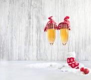 杯在新年` s前夕的香槟 库存照片