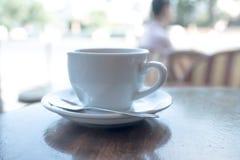 杯热的咖啡 免版税库存照片