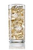 杯在白色背景的碳酸化合的柠檬水 剪报 免版税图库摄影