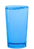 杯在白色背景的水 免版税库存图片