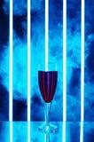 杯在黑暗的背景的红葡萄酒 库存照片