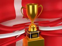 杯子丹麦标志金子王国 库存照片