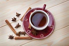 杯子例证红色茶向量 免版税图库摄影