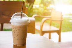 杯子冰冻咖啡 免版税库存图片