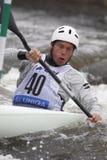 杯子吉姆种族障碍滑雪涉过水世界 库存照片