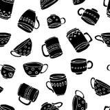 杯子和杯子背景 库存例证