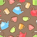 杯子和茶壶 免版税库存图片
