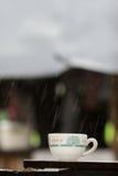 杯子在雨天 库存照片