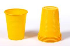杯子塑料 免版税库存图片