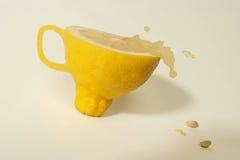杯子幻想柠檬 库存图片
