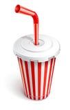杯子快餐纸张红色管 皇族释放例证