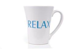 杯子放松 免版税库存照片