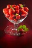 杯子新鲜的草莓 库存图片