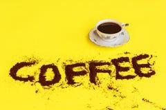 杯子有很多咖啡 免版税图库摄影