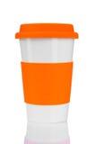 杯子橙色旅行 库存照片
