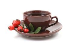 杯子水果的茶 免版税库存照片