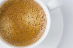 杯子浓咖啡白色 免版税库存图片