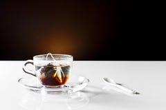 杯子热小的茶 库存照片