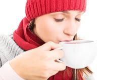 杯子热茶 免版税库存照片
