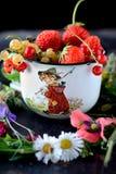 杯子用新鲜的莓果 库存图片