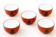 杯子研究茶 免版税库存图片