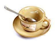 杯子空的茶 图库摄影