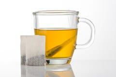 杯子绿茶 免版税库存图片