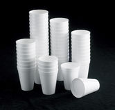 杯子聚苯乙烯泡沫塑料 免版税库存图片