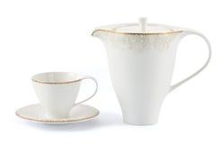 杯子茶壶 免版税库存图片