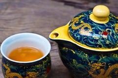 杯子茶壶 库存照片