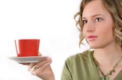 杯子茶妇女 图库摄影