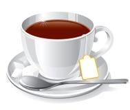 杯子茶白色 免版税库存照片