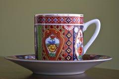 杯子茶碟茶 库存图片
