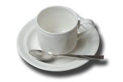 杯子茶碟 免版税库存图片