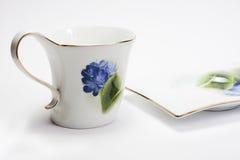 杯子茶碟 库存图片