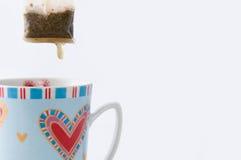 杯子茶茶袋 免版税库存照片