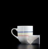 杯子茶袋 库存照片