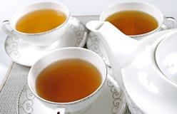 杯子设置了茶 免版税库存图片