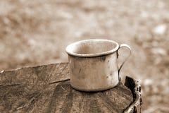 杯子钢 免版税库存图片